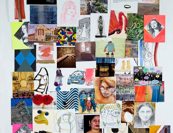 A sale of original postcard-sized works in aid of women's charities